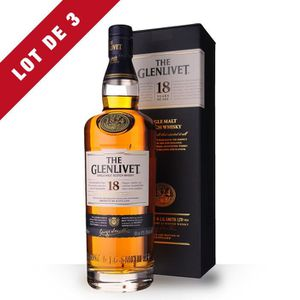 WHISKY BOURBON SCOTCH 3X The Glenlivet 18 ans 70cl - Etui - Whisky Singl