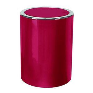 POUBELLE - CORBEILLE 5829451858 Clap Poubelle À Couvercle Plastique Rou