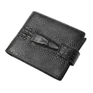 PORTE MONNAIE Porte-feuille Porte-monnaie en cuire Homme Noir