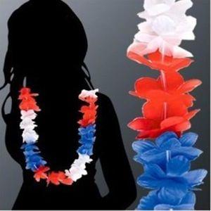 Multicolore Tinksky 7 Ensembles Hawa/ï Tropical Hula Grass Danse Jupe Fleur Bracelets Bandeau Collier Ensemble 40 cm