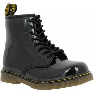 BOTTINE Dr MARTENS Brooklee vernis Enfant-24-Noir