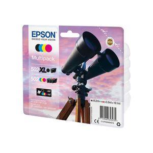 CARTOUCHE IMPRIMANTE Epson 502-502XL Multipack Pack de 4 19.1 ml noir,