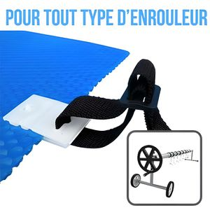 Attache bache piscine achat vente attache bache for Enrouleur bache a bulle pas cher