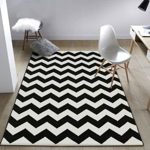 tapis noir et blanc scandinave maison image id e. Black Bedroom Furniture Sets. Home Design Ideas