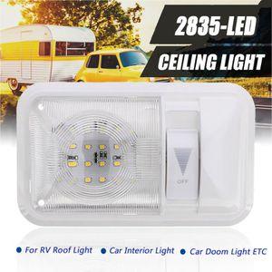 Audew 2pcs 34.5CM Ruban LED Dur 72SMD avec Interrupteur on//Off R/églette Plafonnier V/éhicule Bande Strip Lumineux /Éclairage Int/érieur Voiture,Camion,V/éhicule,Camping Car DC 12V Blanc Lumi/ère