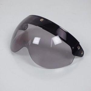 CASQUE MOTO SCOOTER Ecran visière plat transparent relevable pression