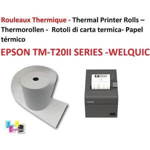 Par 20 bobines 20 Rouleaux de papier pour imprimante epson tM-j 7500 rouleau 76 x 70 x 12 papier ordinaire offset sans bois pour imprimante /à encre Epson