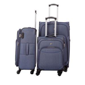 SET DE VALISES Set de 3 valises souples 8 roulettes Verage Bleu