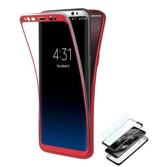 Coque Samsung Galaxy S7 Edge Rouge Film Protection Ecran Anti ...