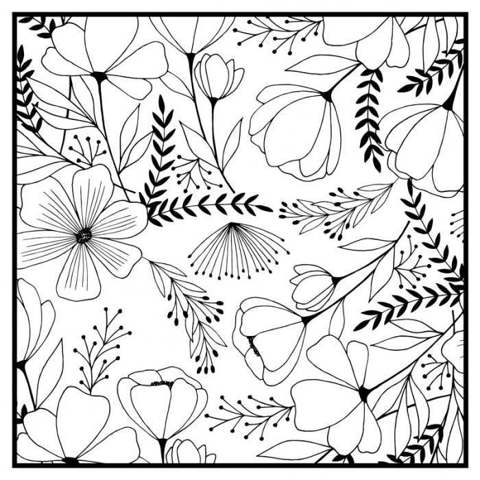 Tampon bois 'Artemio' Good vibes Fleurs