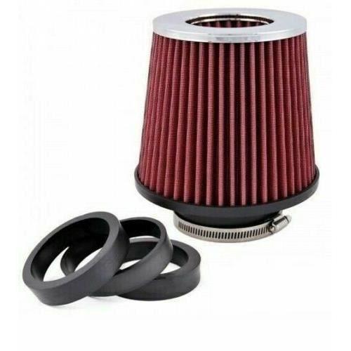 Filtre A Air Kit D'Admission Direct Rouge Sport Double Montage Universel Pour Plusieurs Modeles