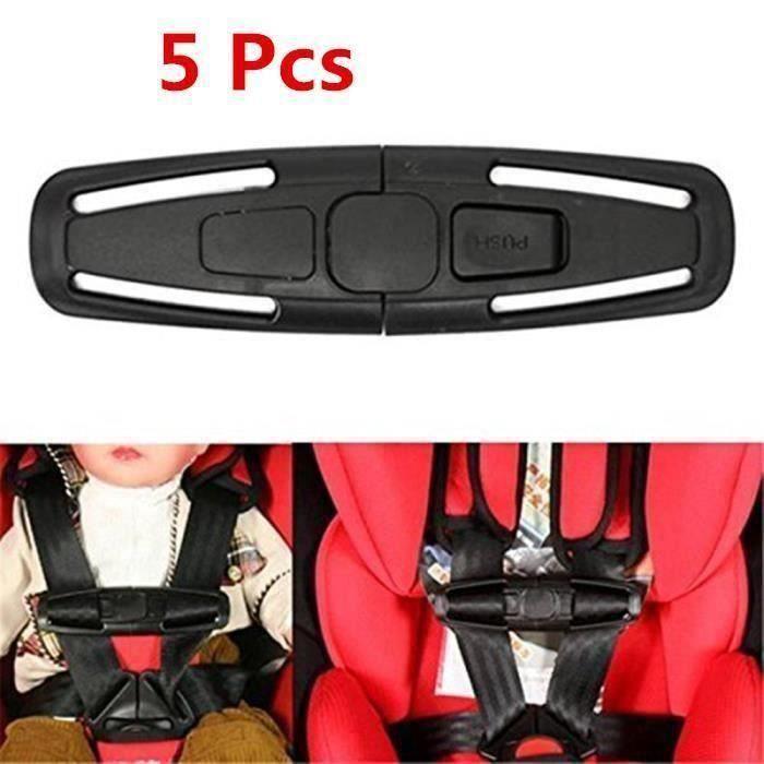 5 Pcs Pince de verrouillage pour pour harnais de sécurité de siège auto (noir)