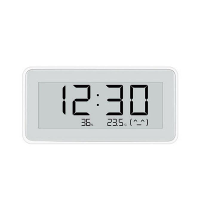 Thermo-hygromètre électronique, Thermomètre Hygromètre In&Extérieur sans fil, Écran LCD digital pour l' affichage de température Ble