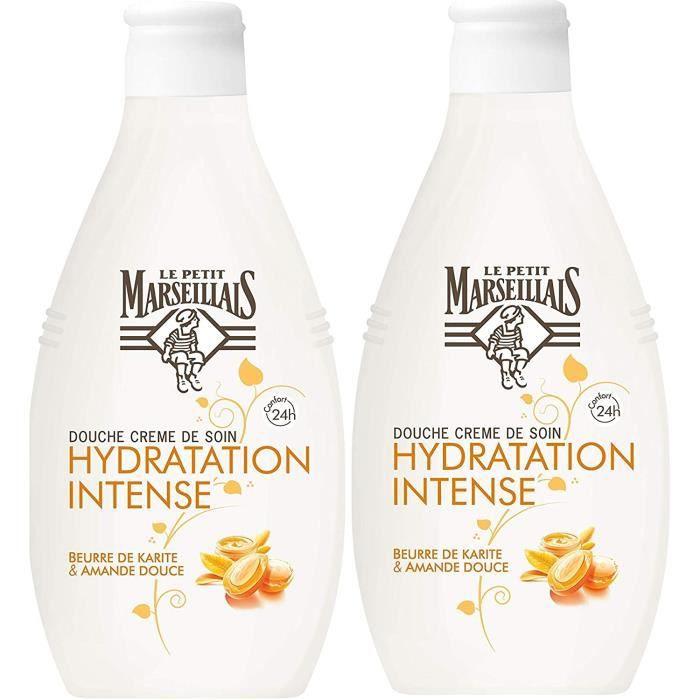 Soins des cheveux Le Petit Marseillais - Douche Crème Hydratation Intense - Beurre de karité et Amande Douce 250ml - Lot 145565