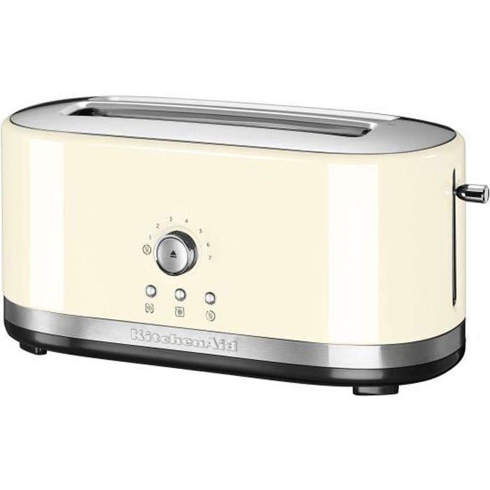 KITCHENAID 5KMT4116EAC Grille-pain - 1800 W - 2 fentes - 7 positions - Crème