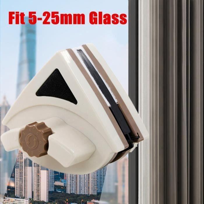 Raclette Lave Vitre Aimanté Nettoyage Magnétique Outil Nettoyage Brosse pour l'épaisseur de Fenêtres à Double Vitrage Meg44839