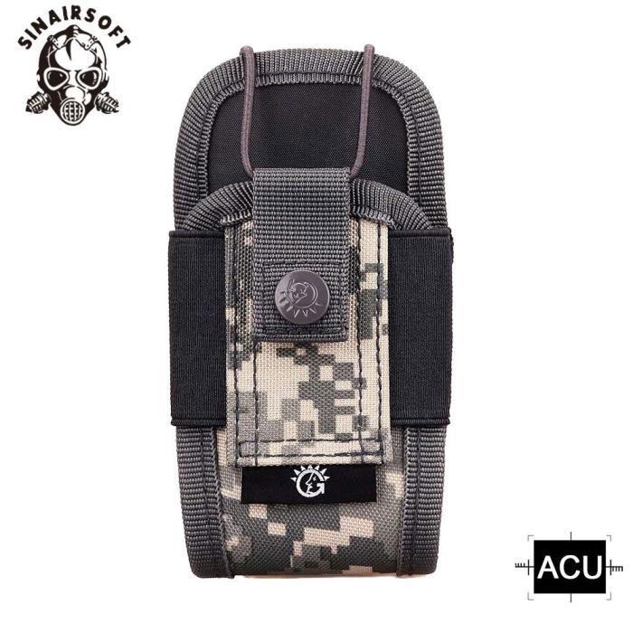 Sac tactique pour talkie walkie A018, sacoche multifonction Camouflage en Nylon, pochette militaire Molle EDC, PK92998578