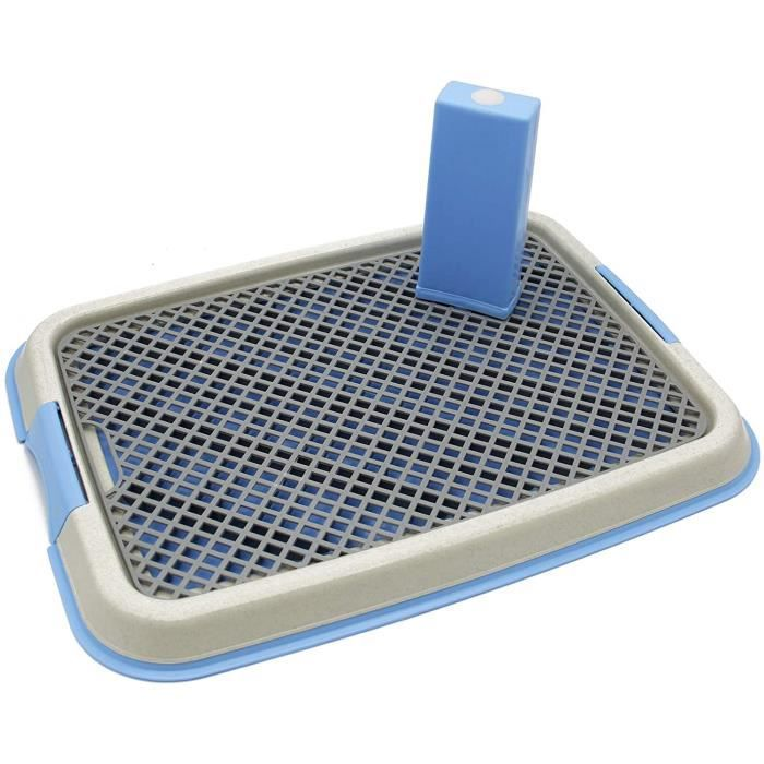 BPS Plateau Sanitaire de Dressage Toilettes Intérieur pour Chiens Toilette Animaux Plastique 2 Tailles M-L Couleur au Ha 599232