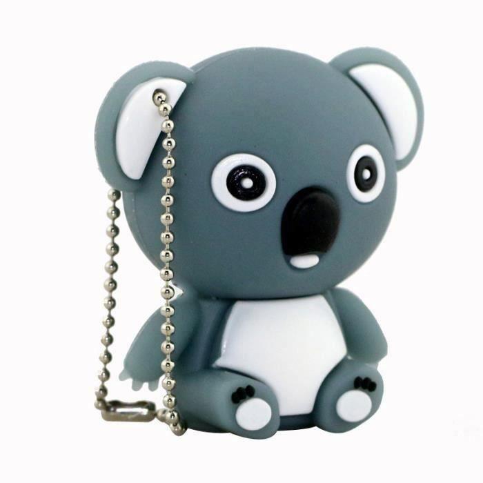 8Go USB 2.0 Clé USB Clef Mémoire Flash Data Stockage Koala GrisMKK65