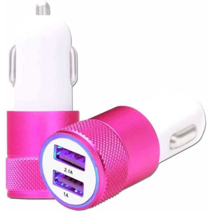 ALLUME CIGARE Blu Life One X 2016 Chargeur AllumeCigare USB Rose de Voiture Double Ports Ultra Rapide USB X2 Chargeur Voiture1227