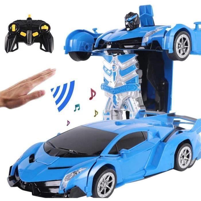 VEHICULE MINIATURE ASSEMBLE ENGIN TERRESTRE MINIATURE ASSEMBLE Womdee Transformation Voiture Robot, RC Voiture Robot De Transf631