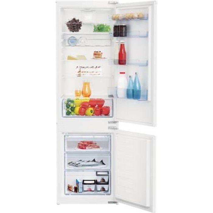 Beko BCSA285K2SF Réfrigérateur-congélateur intégrable niche largeur : 56 cm profondeur : 55 cm hauteur : 177.8 cm 271 litres…
