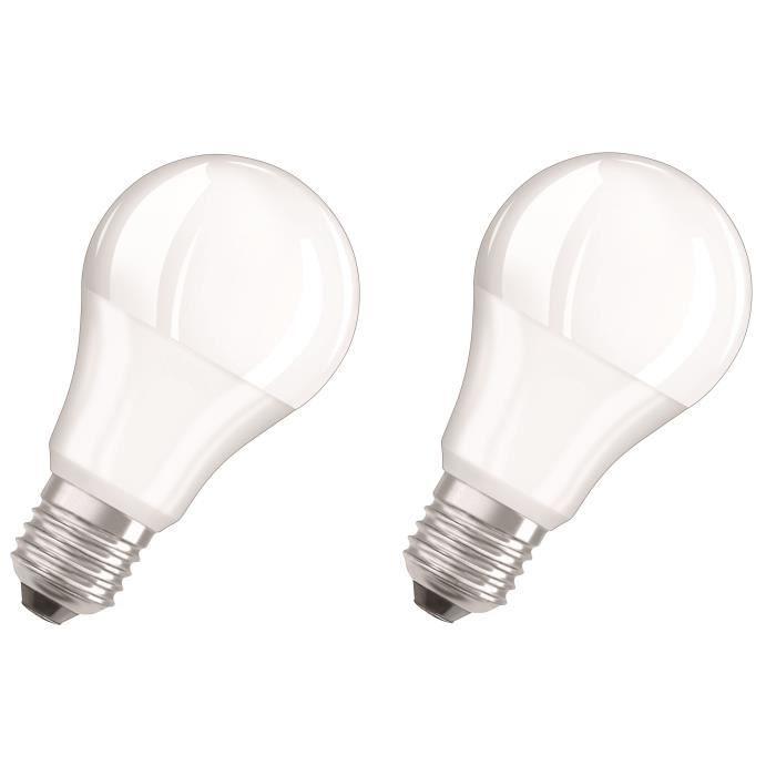 OSRAM Lot de 2 Ampoules LED Star + Duo Click Dim E27 standard 9 W équivalent à 60 W blanc chaud