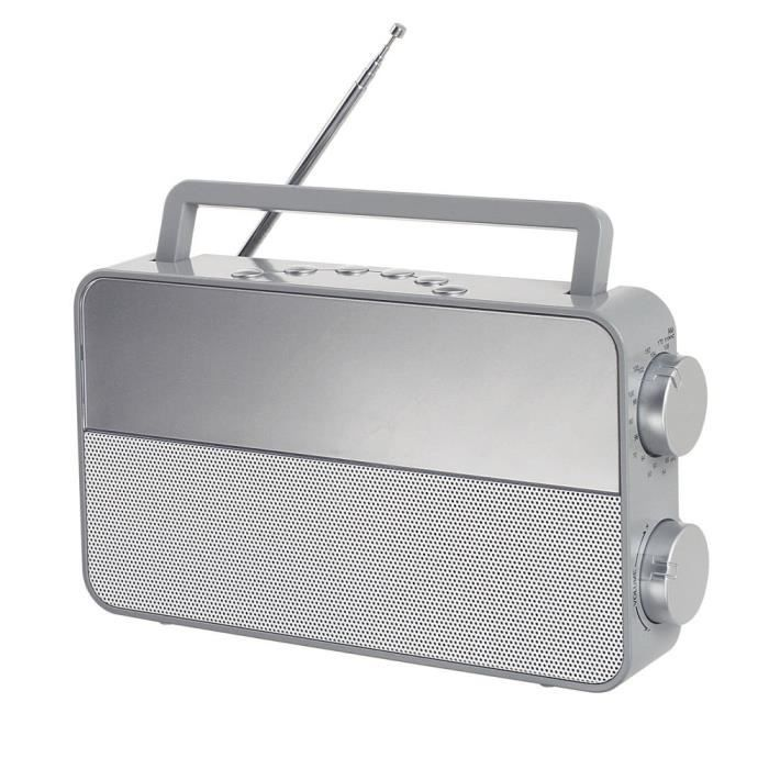 CLIPSONIC RA1048G Radio analogique AM/FM - Gris
