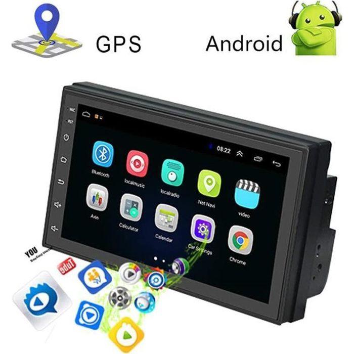 Android 9.1 Autoradio 2 Din Bluetooth GPS, 7 Pouces HD1080P Écran Tactile Capacitif Navigation de MP5 Voiture Supporte BT WiFi Radio