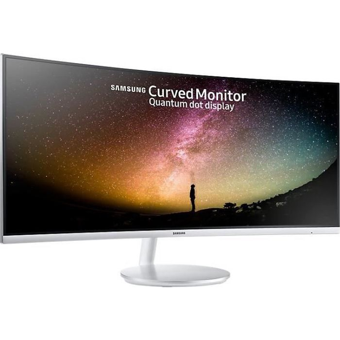 SAMSUNG C34F791 - Ecran incurvé 34 pouces QLED UWQHD - Dalle VA - 4ms - HDMI/Display port/USB 3.0