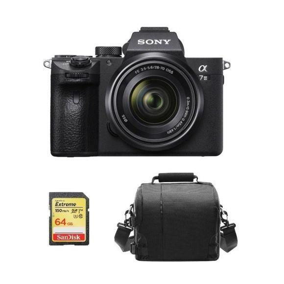 SONY A7 III KIT SEL 28-70MM F3.5-5.6 OSS + 64GB SD card + camera Bag
