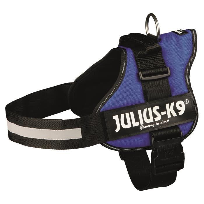 Harnais Power Julius-K9 - 2 - L-XL : 71-96 cm-50 mm - Bleu - Pour chien