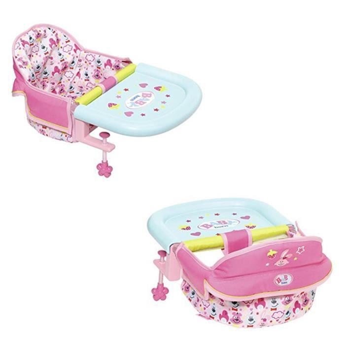 Zapf Creation 825235 BABY born - Siège de table pour poupée