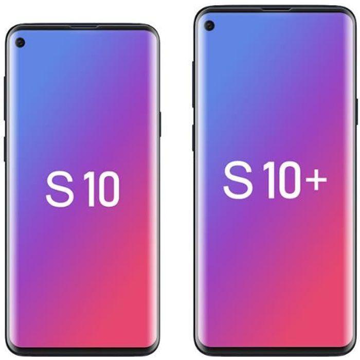 Verre trempé Samsung Galaxy S10, Protecteur d'écran en verre trempé 3D Déverrouillage d'empreintes digitales