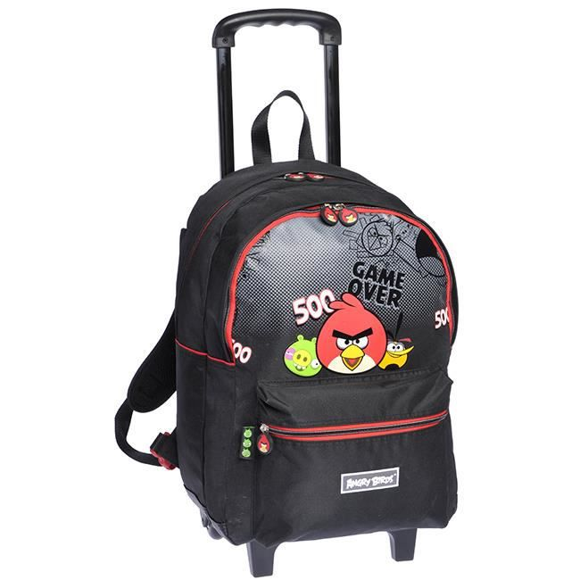 sac dos angry birds noir roulettes noir achat vente sac dos 5701359709235 cdiscount. Black Bedroom Furniture Sets. Home Design Ideas