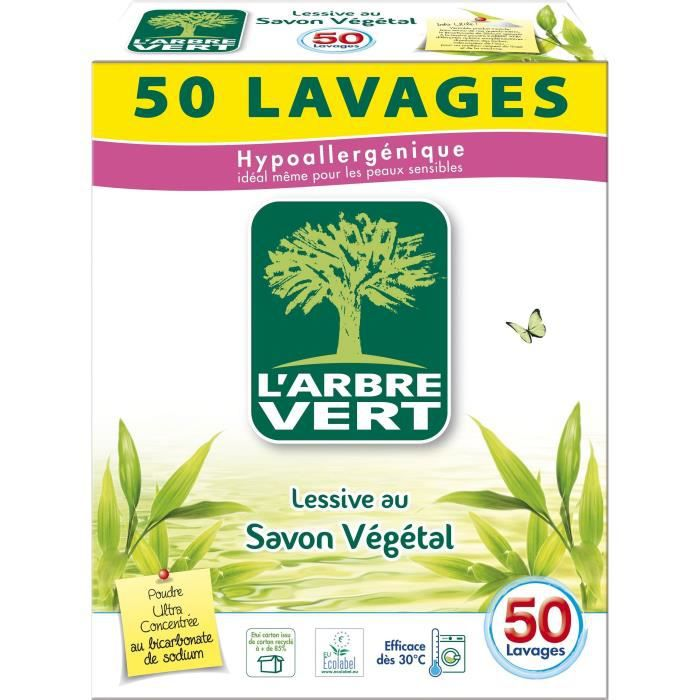 poudre arbre vert lessive linge achat vente lessive cdiscount. Black Bedroom Furniture Sets. Home Design Ideas