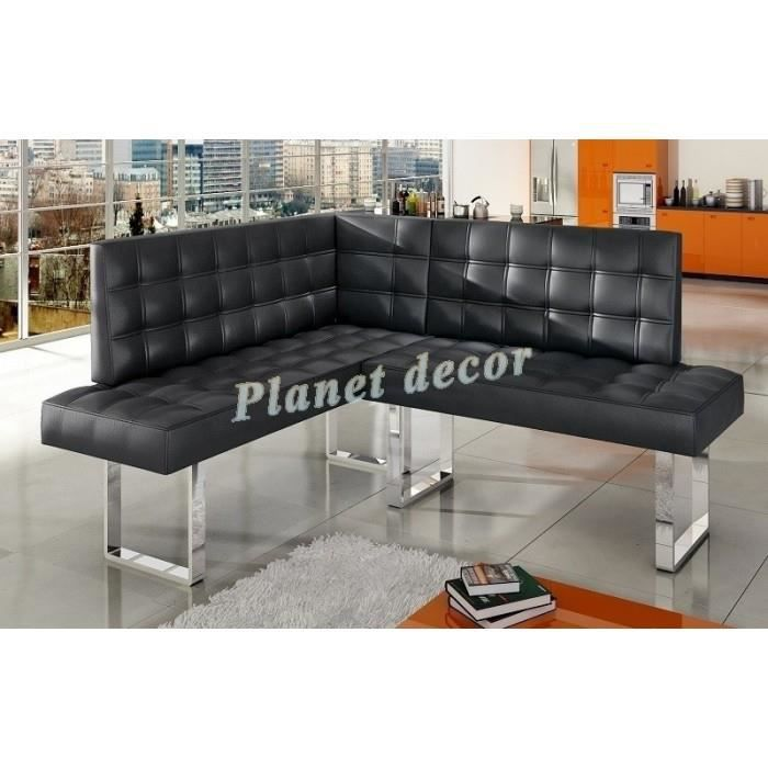 banquette coin repas angle droit simili cuir favori achat vente clic clac soldes d s le. Black Bedroom Furniture Sets. Home Design Ideas