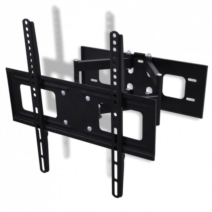 Support mural tv orientable et inclinable 37 55 pouces for Meuble tv mural orientable