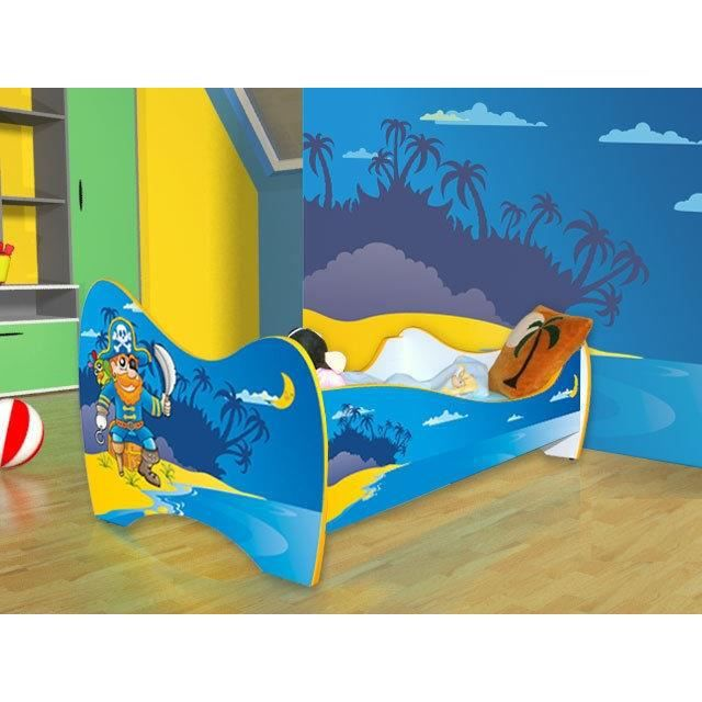 lit enfant pirate sommier matelas 140x70 achat vente. Black Bedroom Furniture Sets. Home Design Ideas