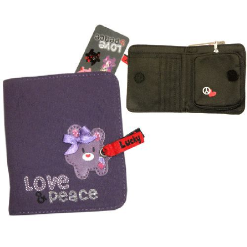 love and peace porte monnaie violet lucky achat