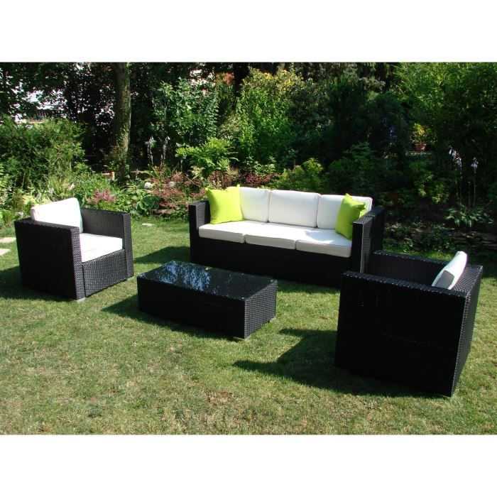Salon de jardin en resine tressee 5 places napoli achat vente salon de ja - Salon jardin 2 places ...