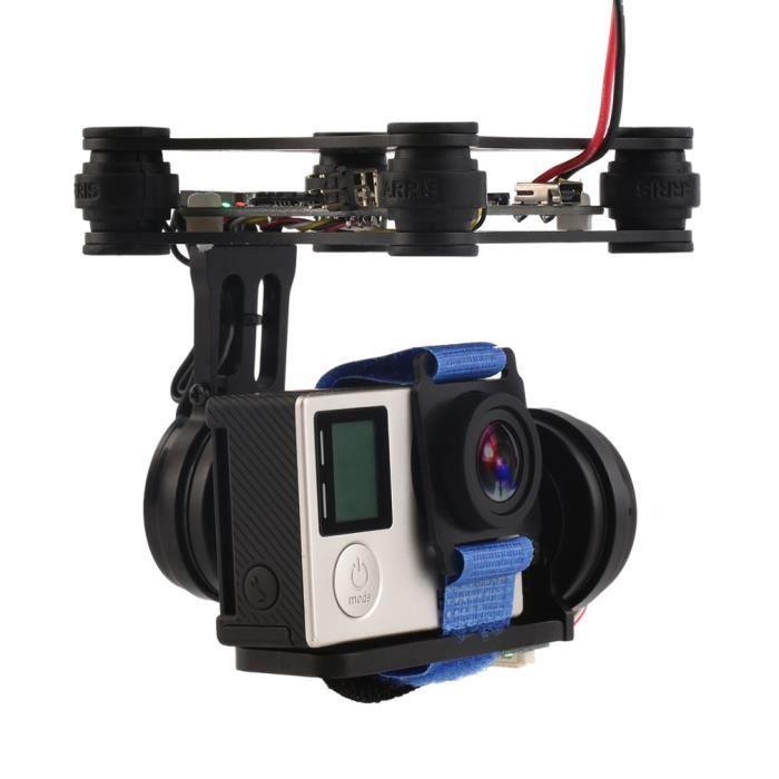 PIÈCE DÉTACHÉE DRONE Noir FPV 2 Axle Brushless Gimbal Avec contrôleur P