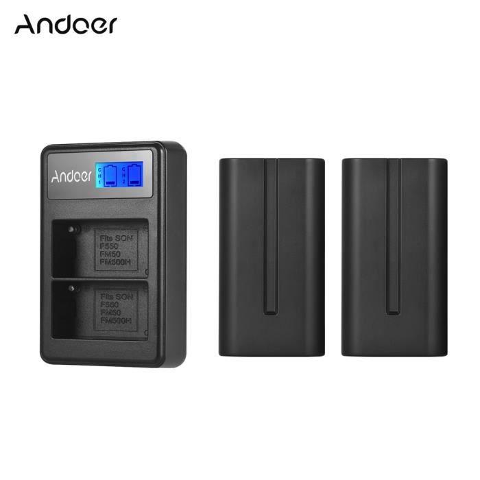 Chargeur pour batterie SONY FM500H FM50 FM70 FM90-110 220V et 12V