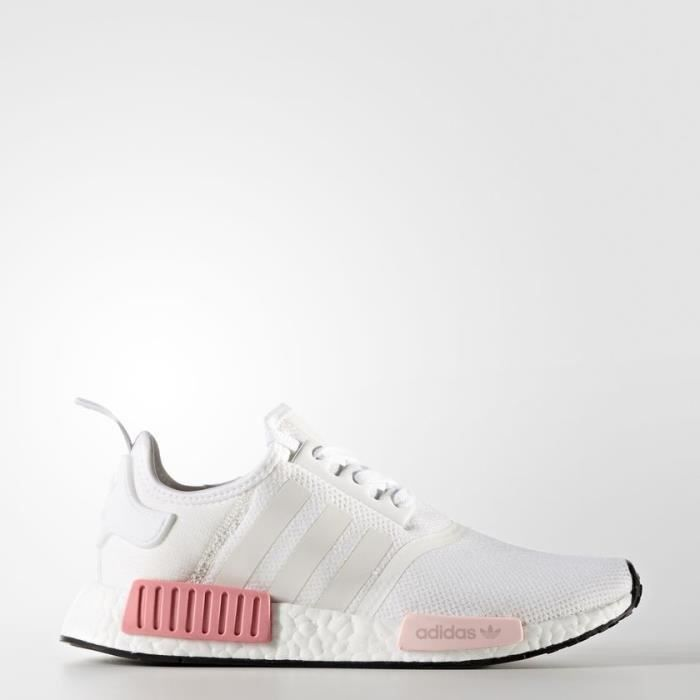 Basket Adidas NMD R1 W Blanc Rose BY9952 Blanc - Cdiscount Chaussures