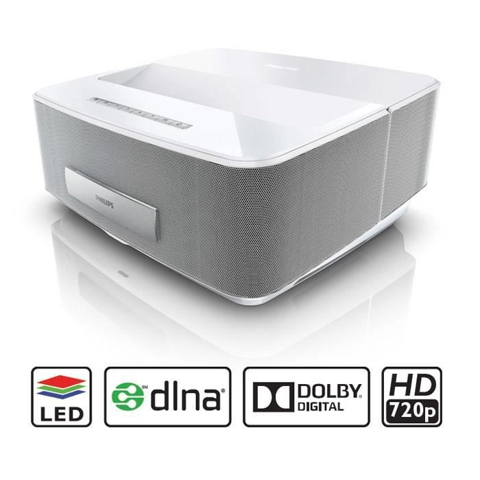 videoprojecteur philips hdp1550tv screeneo blanc vid oprojecteur prix pas cher cdiscount. Black Bedroom Furniture Sets. Home Design Ideas