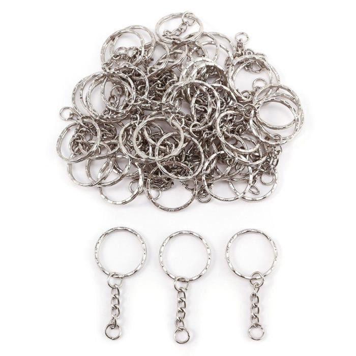 lot de 50 anneaux neuf pour porte clé 25 mm création bijoux livré en 24 48 h
