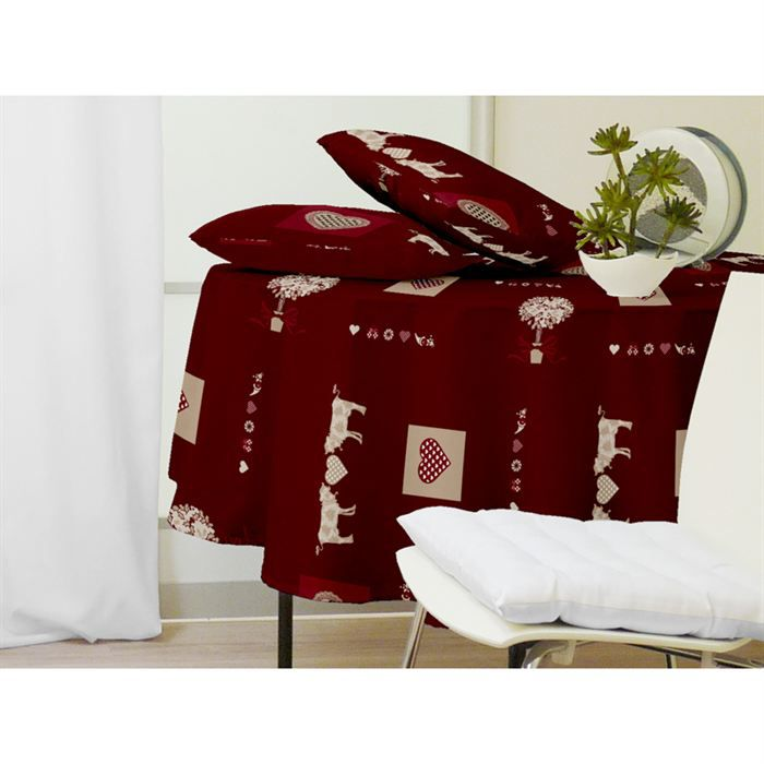 nappe ronde meribel rouge achat vente nappe de table cdiscount. Black Bedroom Furniture Sets. Home Design Ideas