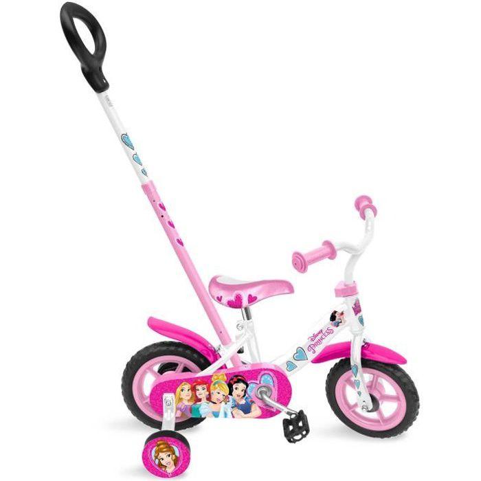 """VÉLO ENFANT STAMP Vélo princesse - 10"""" - Pignon fixe et canne"""