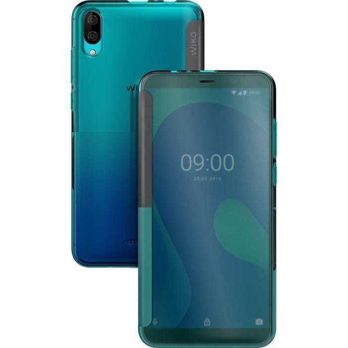 HHUAN Coque pour Wiko Y80 Semi-Transparent Cover Souple Silicone TPU Chat fi/èvre Housse Etui Bumper Case HD Verre tremp/é en /écran Film Protecteur pour Wiko Y80 5.99