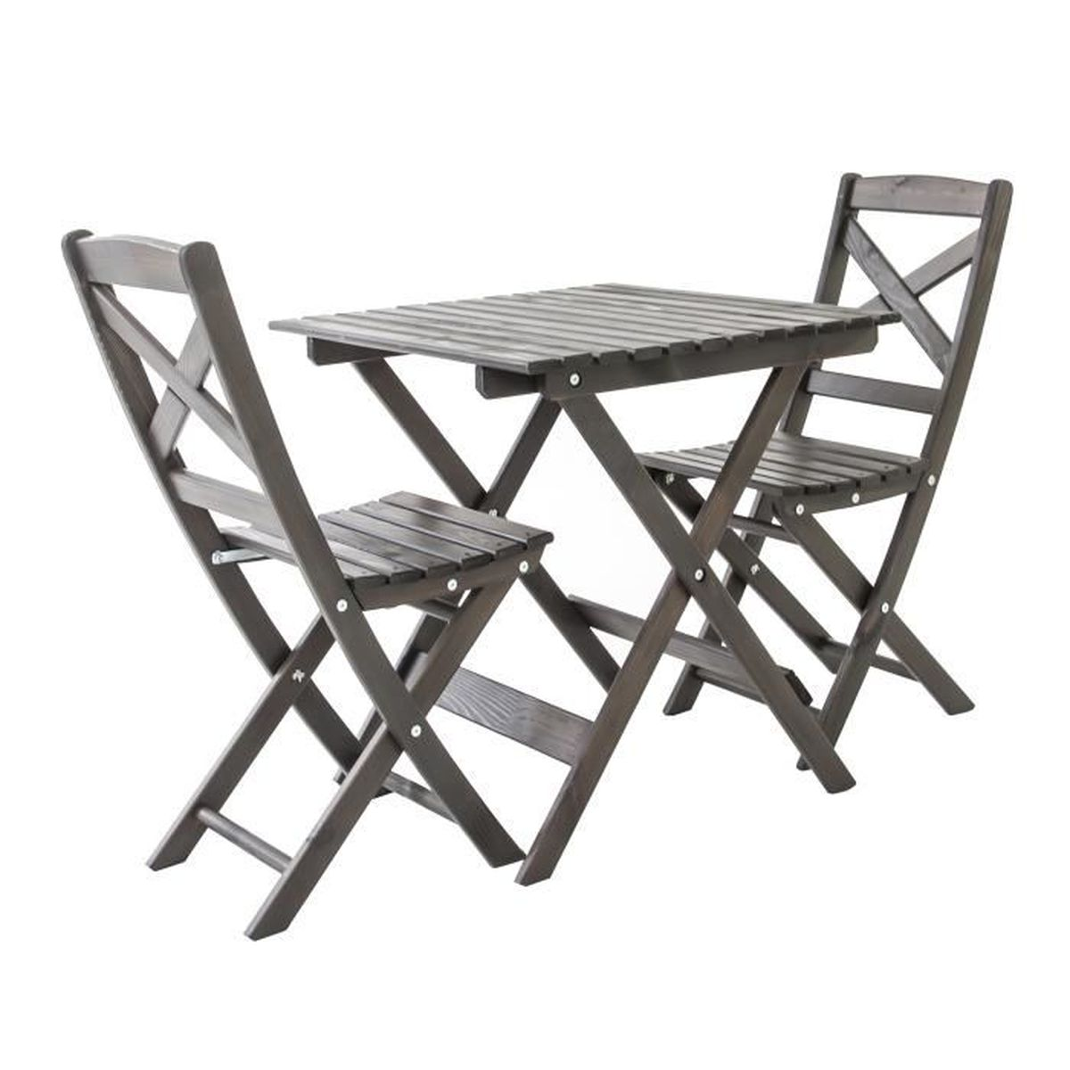 Ensemble de mobilier de jardin ou de balcon 1 table & 2 ...